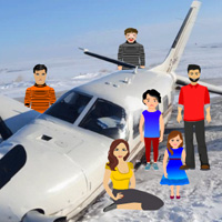 Wowescape Plane Crash in Snow Escape