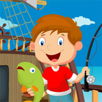 Games4King Little Fisherman Rescue