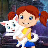 Games4King Cute Little Girl And Pet Escape